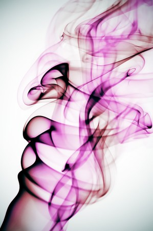humo: colored smoke isolated on a white background