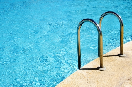 close up of a swimming pool in the summer photo