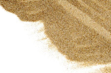 closeup of sand isolated on a white background Stock Photo - 7046754