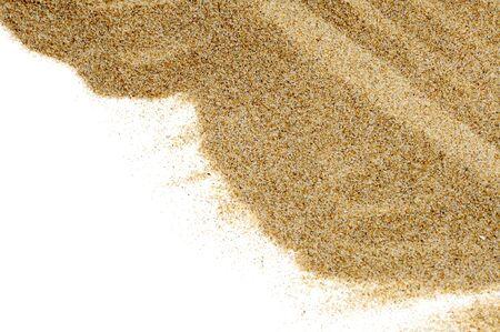 meditation isolated white: closeup of sand isolated on a white background Stock Photo