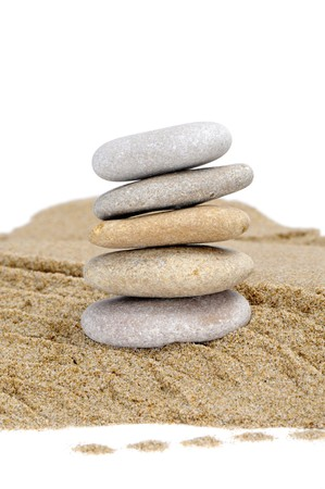 background made with zen stones in the sand Stock Photo - 7060349