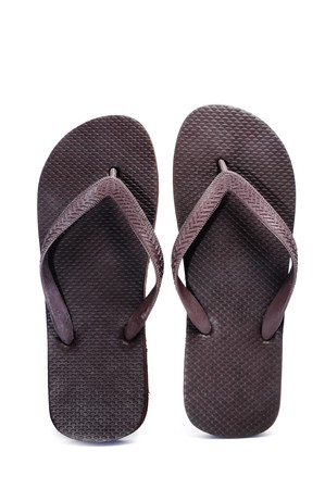 a pair of flip-flops isolated on a white background photo