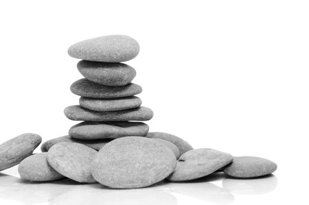 a pile of zen stones on a white background Stock Photo - 7123855