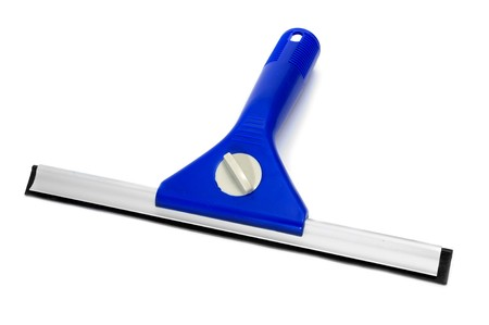 squeegee: a window squeegee isolated on a white background