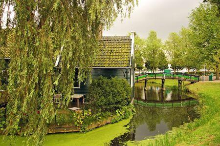 zaanse: scenic view of Zaanse Schans, Holland, Netherlands Stockfoto