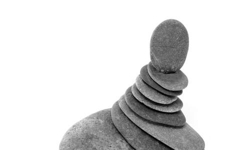 a pile of zen stones on a white background Stock Photo - 7138351