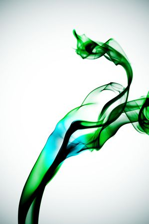 airiness: colored smoke isolated on a degraded background Stock Photo