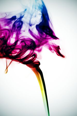 colored smoke on a degraded background