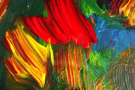 brushstrokes: background made of brushstrokes of different colors Stock Photo