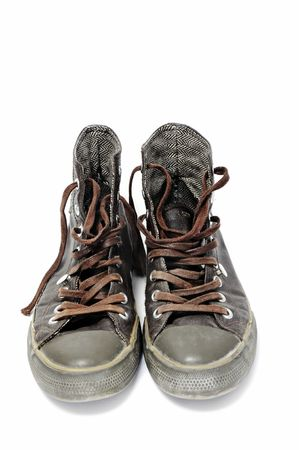 a pair of sneakers isolated on a white background Stock Photo - 7189416