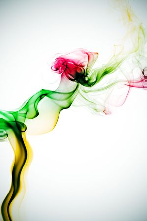 degraded: colored smoke on a degraded background