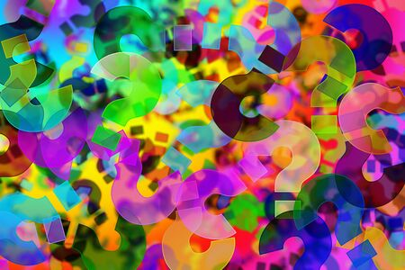 background of question marks of different colors Stock Photo - 7188899
