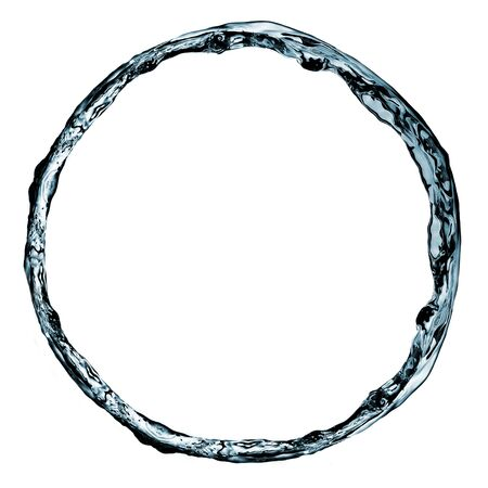 made of water: circle made with water on a white background Stock Photo