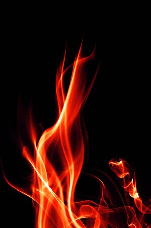 daemon: fire flames on a black background