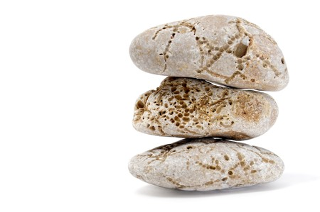 a pile of zen stones on a white background Stock Photo - 7221914
