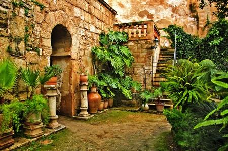 A view of arab baths in Palma de Mallorca, Spain photo