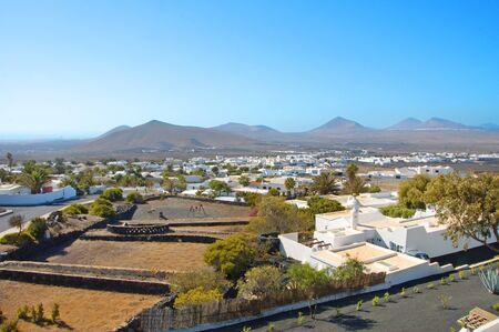 lanzarote: Een weergave van Lanzarote, op de Canarische eilanden, Spanje Stockfoto