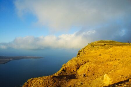 A view of Isla Graciosa from Lanzarote, in the Canary Islands, Spain photo