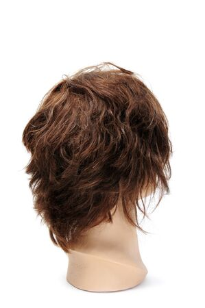 manequin: a mannequin head isolated on a white background