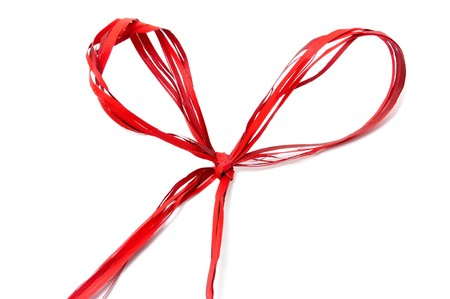 a gift ribbon bow solated on a white background  photo