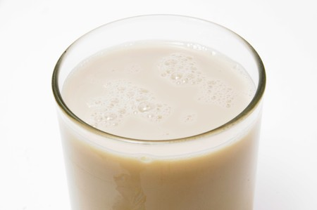valencia: a glass of horchata, a summer typical drink of Valencia, Spain