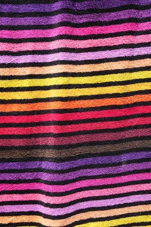 closeup of a colorful striped beach towel photo