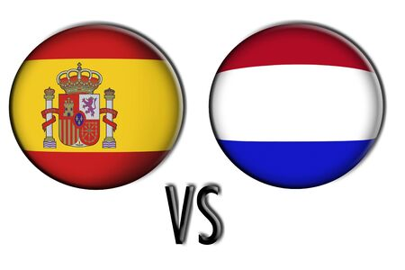 finalists: Spain versus Netherlands in the final world cup