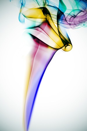 colored smoke isolated on a degraded background Stock Photo