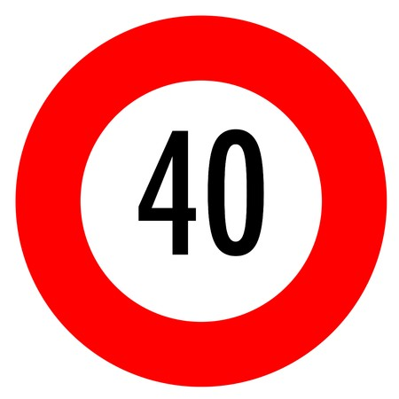 a speed limit sign isolated on a white background photo
