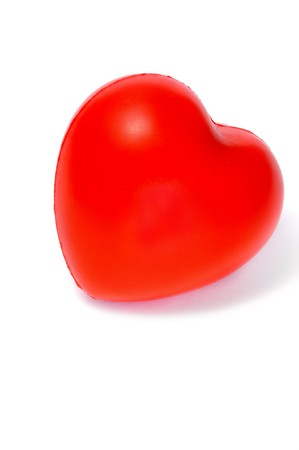 a red heart isolated on a white background photo