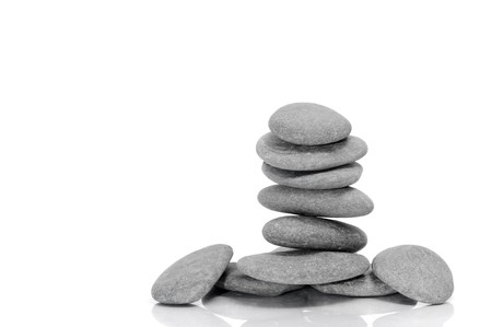 a pile of zen stones on a white background Stock Photo - 7388748