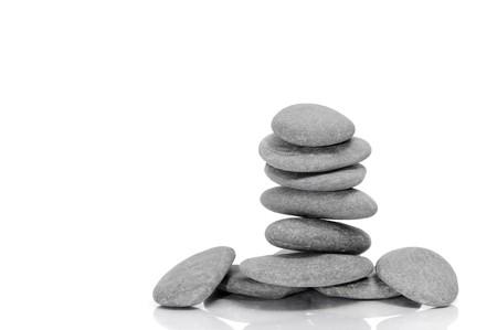 a pile of zen stones on a white background Stock Photo - 7388748