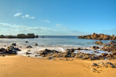 lanzarote: a view of a beach of Lanzarote, Canary Islands, Spain Stock Photo
