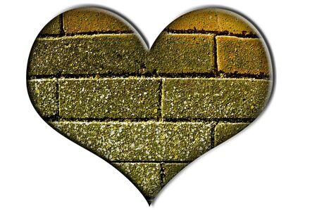 a bricks heart isolated on a white background Stock Photo - 7388894