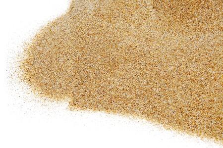 karesansui: closeup of sand isolated on a white background Stock Photo