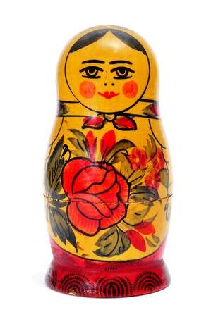 a Matryoshka doll isolated on a white background Stock Photo - 7403675