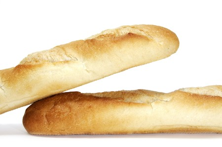 baguettes isolated on a white background