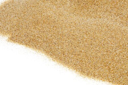 closeup of sand isolated on a white background Stock Photo - 7472686