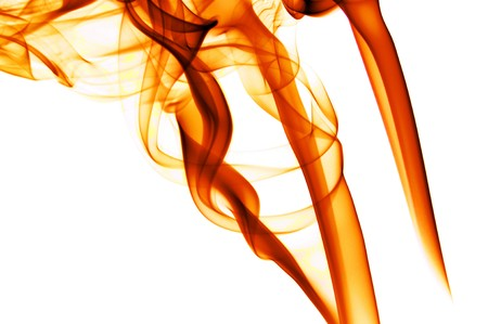 daemon: red fire flames on a white background