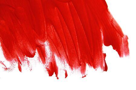 pinceladas: Fondo con pinceladas rojas sobre un fondo blanco  Foto de archivo