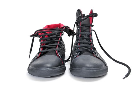 a pair of sneaker boots isolated on a white background Stock Photo - 7587239
