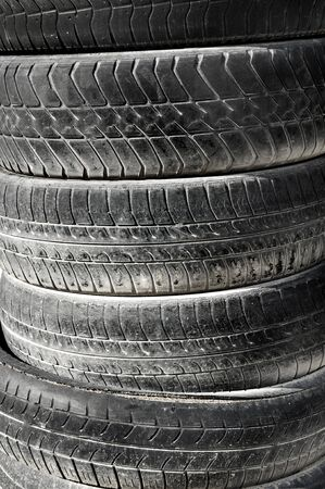 pneumatic tyres: close up of a pile of pneumatic tyres