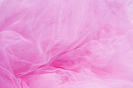 tulle: close up of a pink tulle fabric