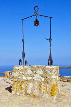 water well: view of an old and rusty water well