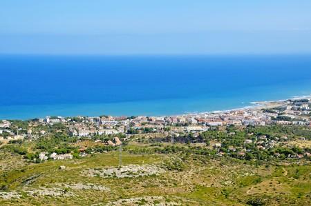valencia: Aerial view of Alcocebre coast, Valencia, Spain