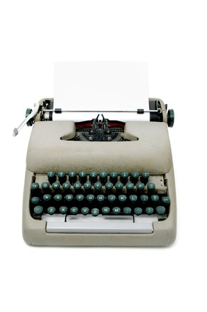 an ancient typewriter isolated on a white background Stock Photo - 7661468