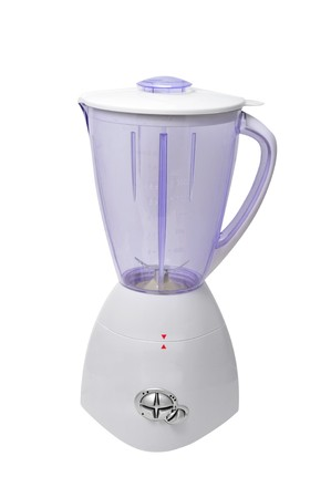 liquidiser: a blender isolated on a white background