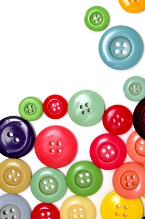tailoring: buttons of many colors on a white background