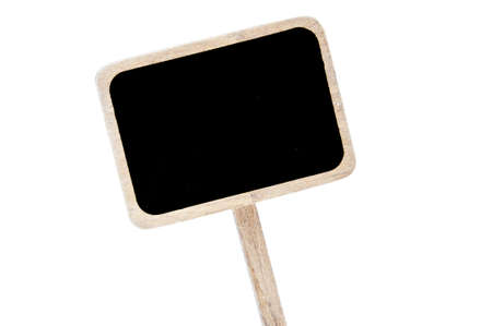 broaching: a blank blackboard label isolated on a white background Stock Photo