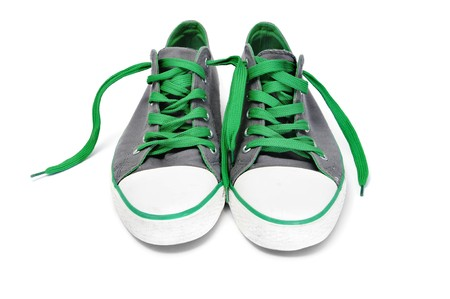 a pair of sneakers isolated on a white background Stock Photo - 7724188